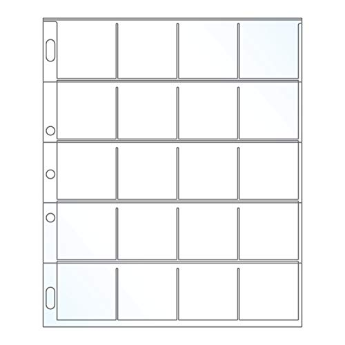 EnvyPak Small Pocket Page Protectors - Ideal for Stamps and Coins - Holds 2