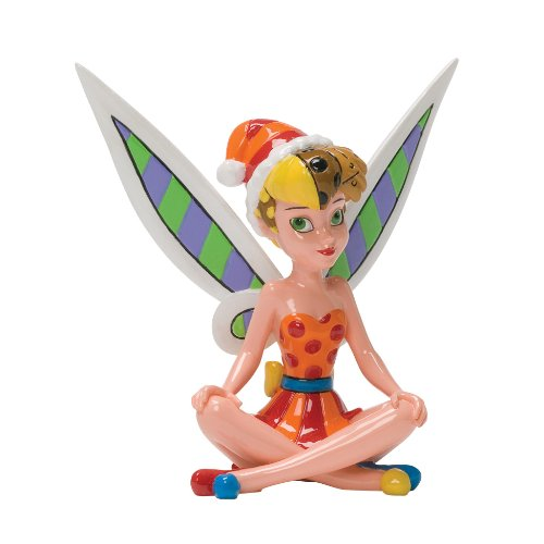 Enesco Disney by Britto Christmas Tinker Bell Figurine, 4-Inch