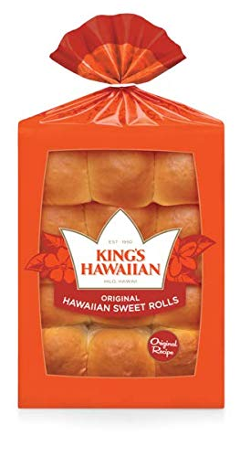 King's Hawaiian Original Hawaiian Sweet Rolls 12 CT (Pack of 2)