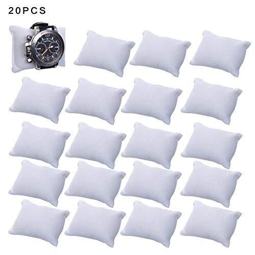 (JIAKAI Velvet Small Bracelet/Watch Pillow Jewelry Displays-20PCS (white) )