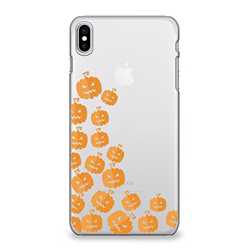 CasesByLorraine iPhone Xs (2018) Case, iPhone X (2017) Case, Halloween Cute Pumpkins Clear Protective TPU Case, Flexible Soft Gel Transparent Cover for Apple iPhone Xs/iPhone X ()