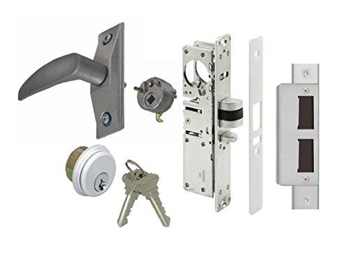 (Storefront Door Mortise Deadlatch Lock Exit Lever Handle Latch Kit, Adams Rite Cam, Aluminum, Choose Backset & Handing (1-1/8