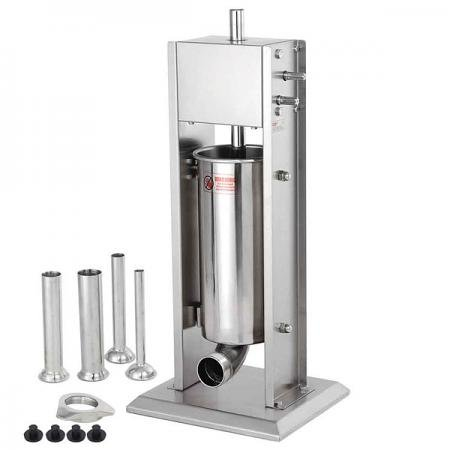 7L 20lbs Two Speed Vertical Commercial Stainless Steel Sausage Stuffer Restaurant Meat Pork
