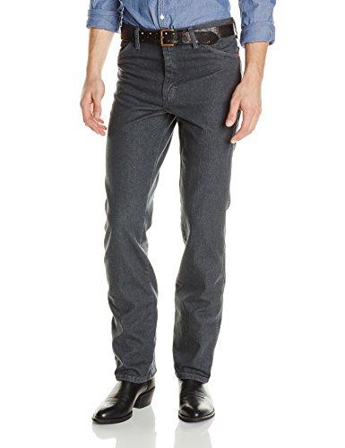 Wrangler Men's Cowboy Cut Slim Fit Prewashed Jean, Charcoal Grey, 38Wx34L Cowboy Cut Stretch Denim Jean