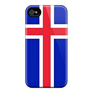 New Iceland Flag Tpu Case Cover, Anti-scratch LatonyaSBlack Phone Case For Iphone 4/4s