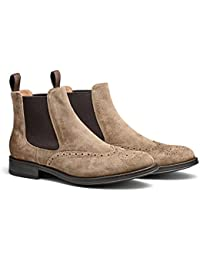 Maxwell Hand Made Premium Brogued Men's Leather Chelsea Boot