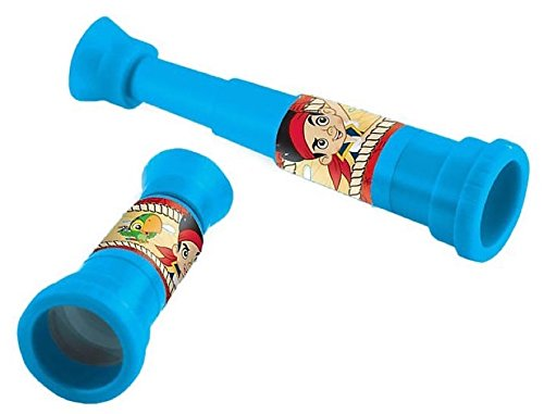 [Amscan Jake and the Neverland Pirates Scope Spottting Favors, 1, Blue] (Jake And The Pirate Costumes)