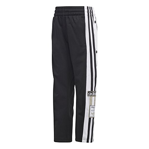 adidas Originals Kid's Adibreak Trackpants Pants, black/white, S (Track Pants With Buttons On The Side)