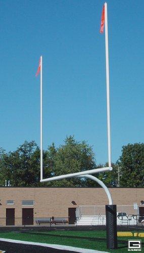 "5 9/16"" O.D. 23 4"" Crossbar White High School Football Goal"
