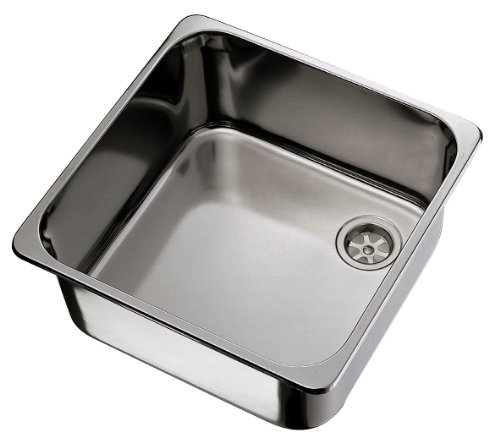 Ambassador Marine Rectangle Stainless Steel Brushed Finish Sink, 14  1/2 Inch Long X 14 1/2 Inch Wide X 9 3/4 Inch Deep