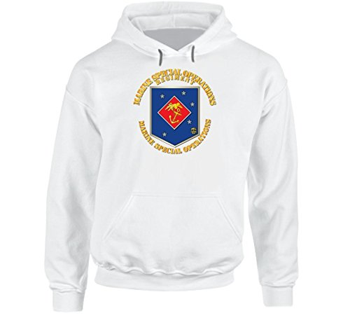 White SMALL SOF USMC Marine Special Operations Regiment Hoodie