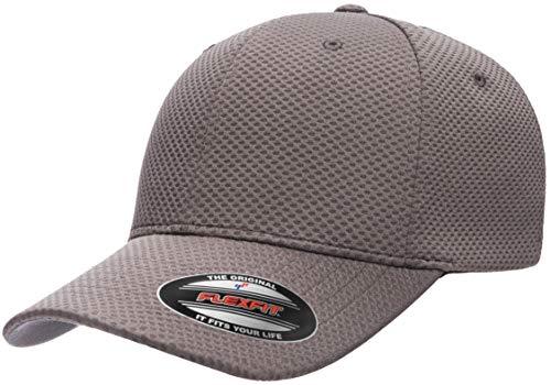 new product 25572 af4be Flexfit Men s Cool   Dry 3D Hexagon Jersey, Dark Grey, L X-Large