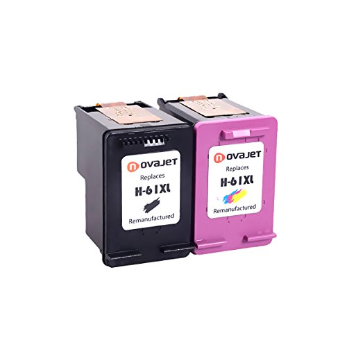 Novajet Remanufactured 61XL 61 XL Ink Cartridge (Black Colour) CH563WN CH564WN For HP Deskjet 1000 1050 2510 3510 -ENVY 4500 5530 Officejet 4630 4635 Photo #3