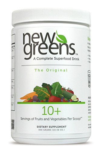 New Greens | Green SuperFood Powder | 66 Active Ingredients | Super Food Smoothie Drink with Antioxidant, Probiotic & Detox Vegetable Blends | Original Mint | Non-GMO, Vegan & Gluten Free