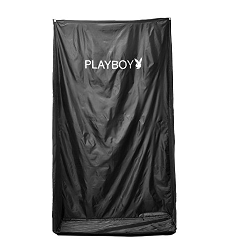 Black Professional Sunless Airbrush & HVLP Spray Tanning Wall Hanging Backdrop Tent with Nylon Carrying Bag (Wall Venetian Lamp)