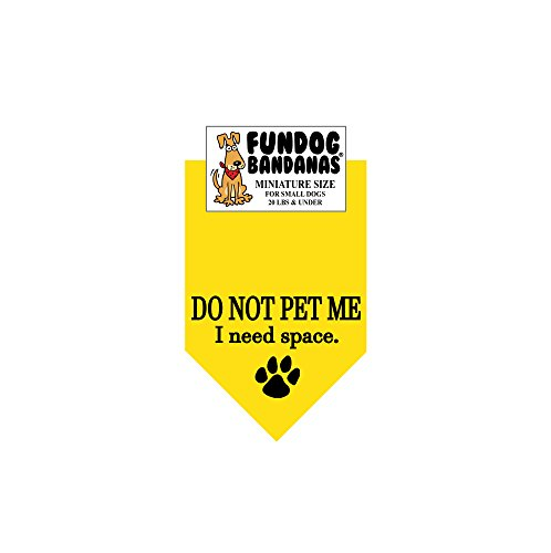 DO NOT PET ME; I NEED SPACE Dog Bandana (Miniature for Small Dogs Less than 20 lbs)