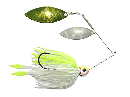 Advantage Bait Company Shad Spinnerbait - Chartreuse Double Willow Spinner Bait Fishing Lures ()
