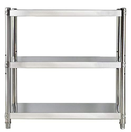 Hilier - Estante de 3 niveles de acero inoxidable para ollas de ...