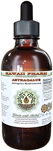 Astragalus Alcohol-Free Liquid Extract, Organic Astragalus Astragalus membranaceus Dried Root Glycerite Hawaii Pharm Natural Herbal Supplement 4 oz