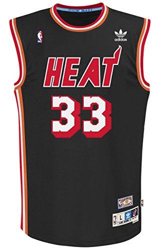 Alonzo Mourning Miami Heat Adidas NBA Throwback Swingman Jersey - Black - Alonzo Mourning Miami Heat