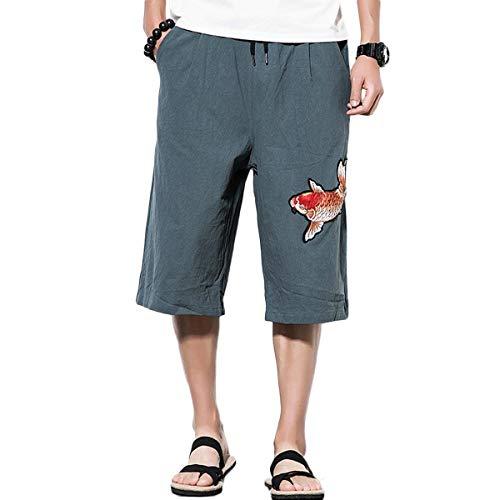Vrac En 7 Lin Jambe Pour Avec À 8 Pantalon Grau Courts Large Pantalons Chino Fashion L'autocollant De Fête Loisirs Hommes Vêtements D'été Lannister ZX8q7x