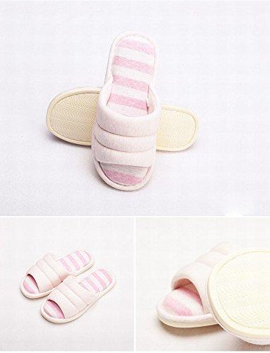 Tricot 37 A B Pantoufles Anti 40 Coton Pantoufles de de 39 Coton Maison Chaussures Coton Couple 38 Dérapant Simple de Calme Et aaXqfn