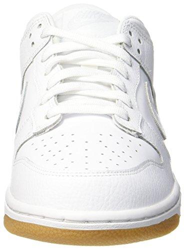 WMNS Dunk White NIKE Gymnastikschuhe Platinum Weiß Damen Low Brown Lt gum pure 1Sxwnq54