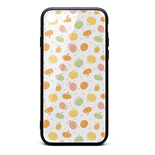 Cartoon Pumpkin Drawing Phone Case for iPhone 6 and iPhone 6S, Slim Protection Art Line Design Cell Phone Protective Case]()