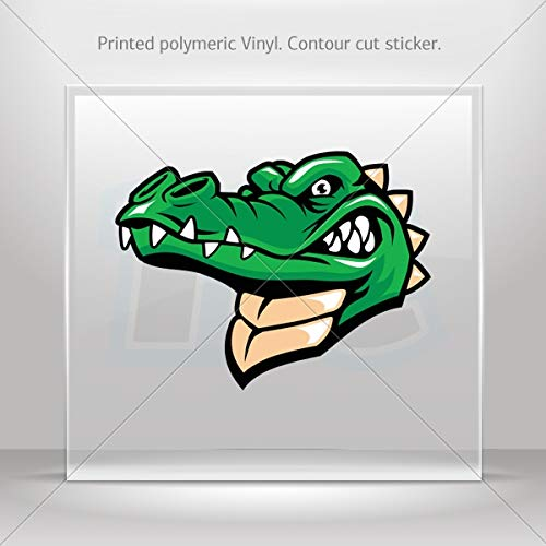Decals Decal Gator Alligator Decoration Waterproof Racing Vehicle Tabl (6 X 4.54 Inches) ()