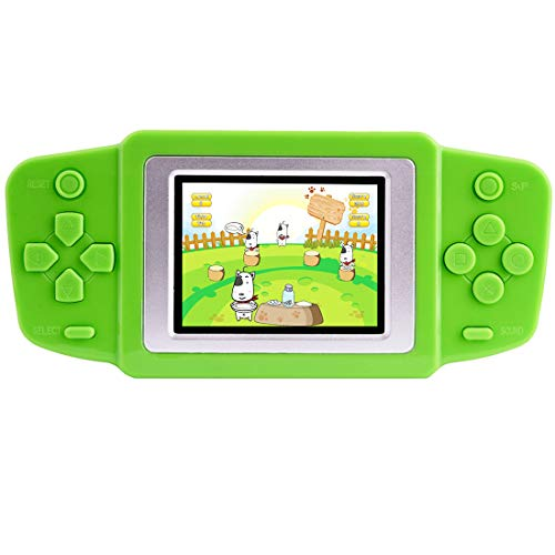 """Beico Handheld Games for Kids with Built in 218 Classic Retro Video Games 2.5"""" Color Screen Portable Rechargeable Arcade Gaming Player for Boys Girls Birthday (Green)"""