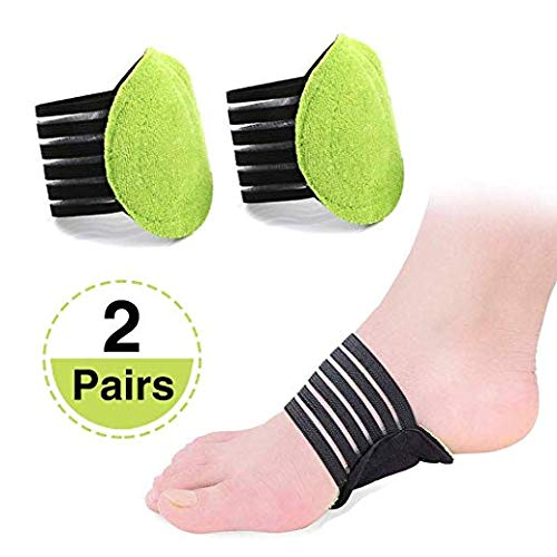 Ochter 2 Pairs Arch Supports Sleeves for Plantar Fasciitis, Fallen Arches, Heel Spurs, Flat and Achy Feet Problems, Foot Relief Cushions for Men and Women