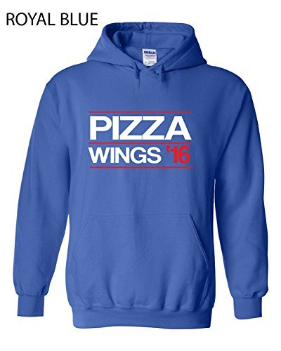 Best Costumes 2016 For Couples (Pizza Wings 2016 Hoodie - Sport Hoodie - Apparel Clothing - Hooded Sweatshirt - Gift for Friend - Christmas Gift - S-5XL)