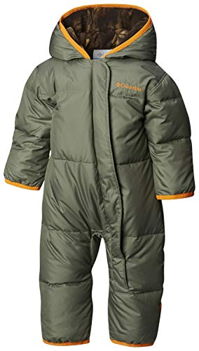 Patagonia Baby Bunting - Columbia Unisex Baby Snuggly Bunny Insulated Water-Resistant Bunting, Cypress/Timberwolf, 3-6 Months
