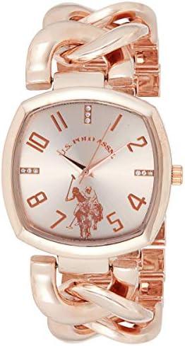 Amazon.com: U.S. Polo Assn. Women's Analog-Quartz Watch with Alloy Strap, Rose Gold, 11 (Model: USC40251AZ): Watches