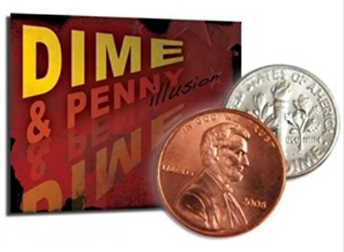 Magic Makers Disappearing Dime and Penny Illusion Magic Trick