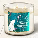 Bath and Body Works 3-wick Candle 2016 Edition Twisted Peppermint