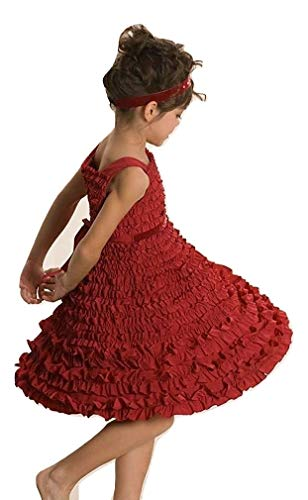 - Kate Mack Biscotti Girls Frill Seeker Ruffled A-line Dress, Red, Size 12