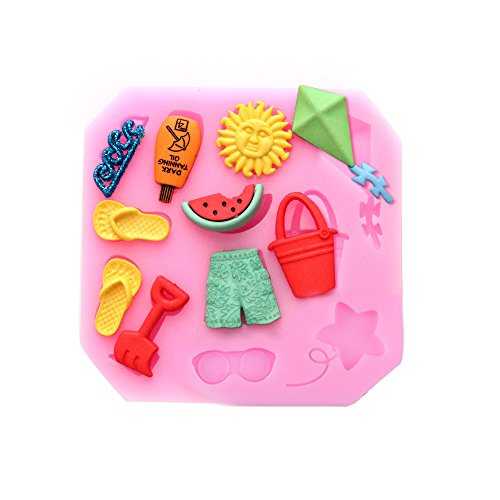 Baidecor Summer Beach Silicone Chocolate Molds Candy Mold Set Of 3