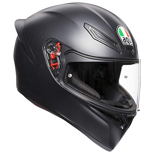 AGV Unisex-Adult Full Face K-1 Motorcycle Helmet Matte Black Medium/Large (Helmet Large Matte)