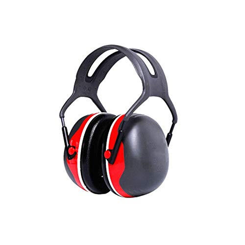 FS Soundproof Earmuffs, Ear Protectors Adults Sleeping Headphones Comfortable Noise Reduction Professional Anti-noise Factory X5A Soundproof Earmuffs (Color : Noise Reduction 33db Red) by FSHEZ (Image #2)
