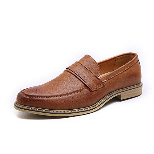 Zapatos Casuales Zapatos Estaciones Koyi Transpirable De Los Brown Suelas Goma De Cuatro Universal Nuevos Y Cómodo Negocios Derby Zapatos De Hombres Cuero De pqPwqdcW8