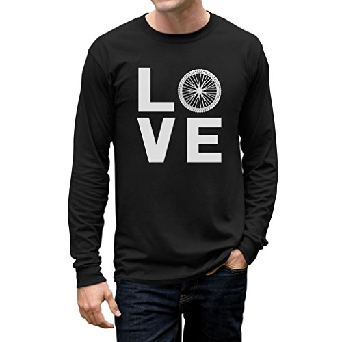 (Love Cycling - Bicycle Riders Gift Idea - Bike Lover Long Sleeve T-Shirt XX-Large Black)