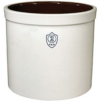 Ohio Stoneware 02436 2 gallon Bristol Crock, Small, White
