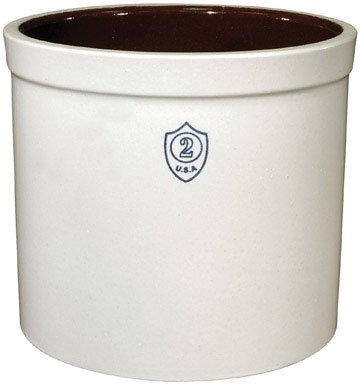 Ohio Stoneware 02436 2 gallon Bristol Crock, Small, White (Crock Gallon 1)