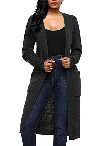 Long Black Cardigan Sweater - 5