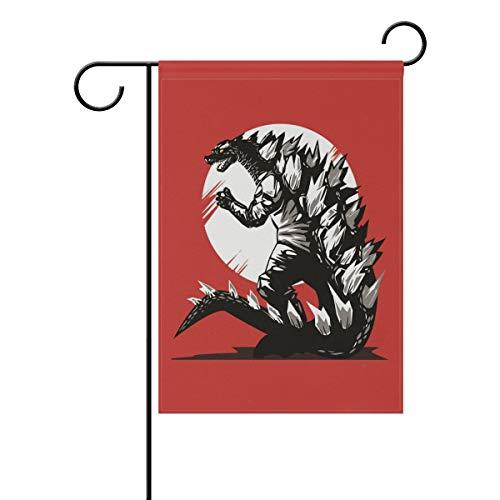 DEZIRO Vicious Godzilla Drawing Yard Flag Custom Garden Flag Double -