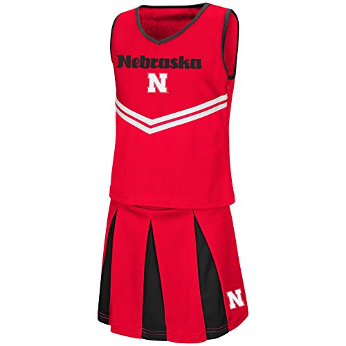 (Colosseum Youth NCAA-Girls Cheer Set-Nebraska Cornhuskers-Youth Medium)