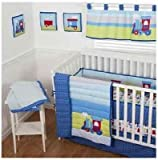 Sumersault 10 Piece Crib Bedding Set, Choo Choo