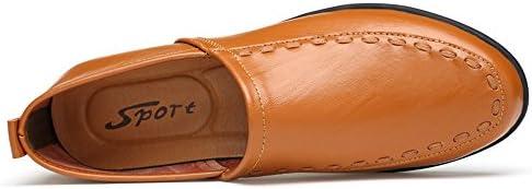 You Are Fashion メンズ本革モカシンスエードインソールファッションスリップオンカジュアルメンズローファー高品質金属装飾アップリケ本物の本革の靴男フラットシューズ (Color : Light Brown Breathable Style, サイズ : 24.5 CM)