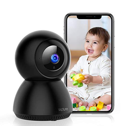 Victure 1080P Wi-Fi Camera, Wireless Home Security Camera Indoor, Sound Detection, Motion Tracking, Motion Detection, Two-Way Audio, Night Vision, Cloud Storage, SD Card Storage, Pan/Tilt